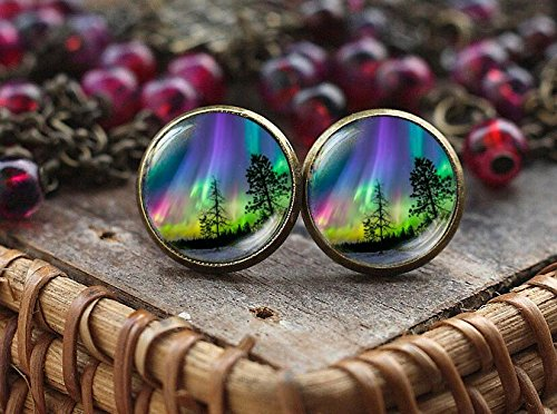 Northern lights stud earrings, northern light Jewelry, light earrings, Aurora Borealis earrings, Aurora earrings