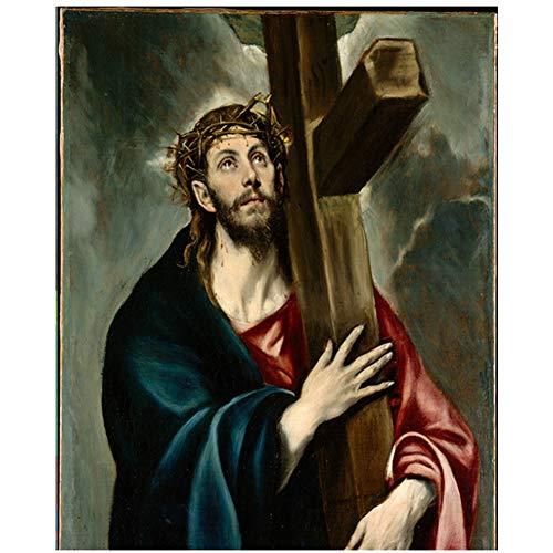 Jesus famoso lienzo pintura por pintor espanol arte de la pared lienzo pintura cristo cuadros decorativos sala de estar decoracion -60x80cmx1pcs- sin marco