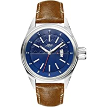 JBW The Rook J6287F Men's Wrist Watches, Blue Dial, Brown Band
