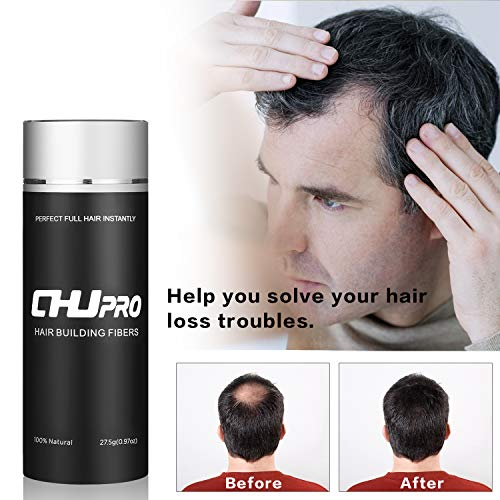 CHJPRO Hair Building Fibers-Color Powder Conceal Landscaping Hairline Expert Women&Men's Hair Thinning/Partial Hair Loss (Dark Brown)