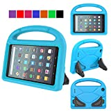 MENZO Kids Case for All-New Fire 7 2019,Light Weight Shockproof Handle Stand Kids Friendly Case for All-New Fire 7 inch tablet (Compatible with 9th Generation 2019 / 7th Generation 2017 ) - Blue