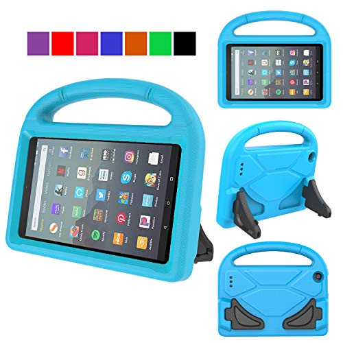 MENZO Kids Case for All-New Fire 7 Tablet (9th Generation - 2019 Release), Light Weight Shockproof Handle Stand Kids Friendly Case for Amazon Fire 7 2019 & 2017 (7