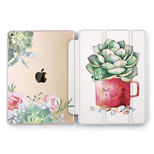 Wonder Wild Cute Succulent iPad Case 9.7 Pro inch Mini 1 2 3 4 Air 2 10.5 12.9 2018 2017 Cactus Design 5th 6th Generation Clear Smart Stand Print Cup Hard Full Body Cover Floral Design Adorable]()