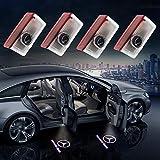 Grolish 4-Pack Car Door LED Lighting Logo Light for Mercedes-Benz Logo Projector Door Step Courtesy Light