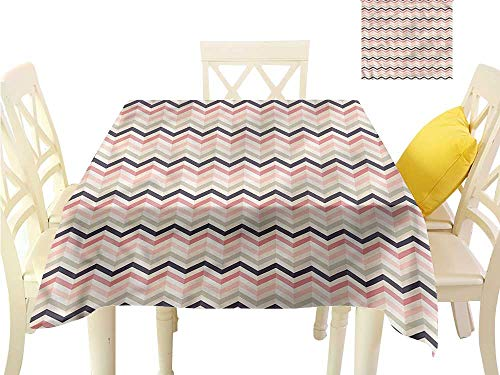 Davishouse Washable Table Cloth Coral Tones Retro 3D Style Indoor Outdoor Camping Picnic W54 x L54 ()