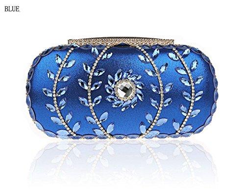 Mariage à Femmes Sacs GSHGA Soirée D'embrayage Blue Sac Sacs De Gold Mariée Main Sacs Sacs De De Diamant XqUfzUp