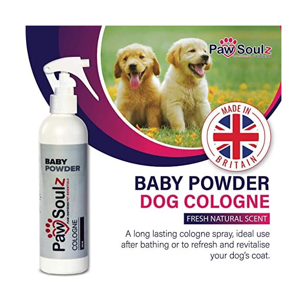 Paw Soulz Premium Dog Cologne Baby Powder - Long Lasting Dog Deodoriser Spray - Contains Aloe - Replenish Skin & Coat - Hypoallergenic - Natural Conditioner Perfume for Dogs & Puppies 2