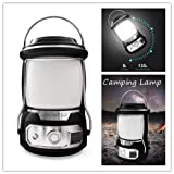 HOMEME Portable Camping Lanterns with USB rechargeable battery power outdoor Water Resistant Tent Emergency LED Flashlights 3Modes 135H 20M range Survival Kit Hiking Fishing Hurricane Car Repair