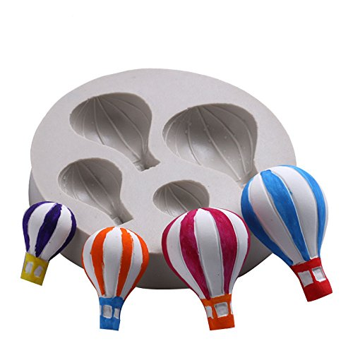 Hacoly Molde Creativo Globo aerost/ático Dise/ño 3D molde del chocolate Globo aerost/ático Silicona Fondant decoraci/ón torta dulce de az/úcar Herramientas