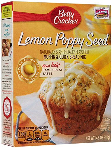 Betty Crocker Muffin Mix-Lemon Poppyseed-14.5 oz