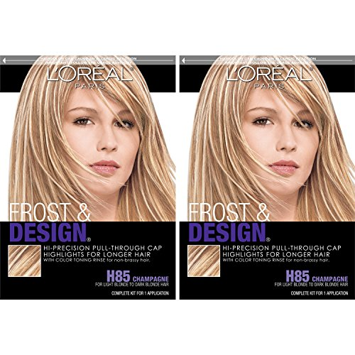 L'Oreal Paris Frost and Design Cap Hair Highlights for Long Hair, Champagne, 2 Count ()
