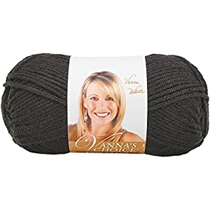 Lion Brand Yarn 860-153 Vanna's Choice Yarn, Black