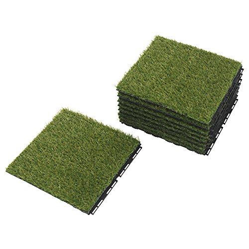 (Ikea Outdoor Deck and Patio Interlocking Flooring Tiles (Artificial Grass))