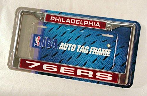 NBA Philadelphia 76ers Laser Cut Chrome Plate Frame (Sixers 76ers Nba Basketball)