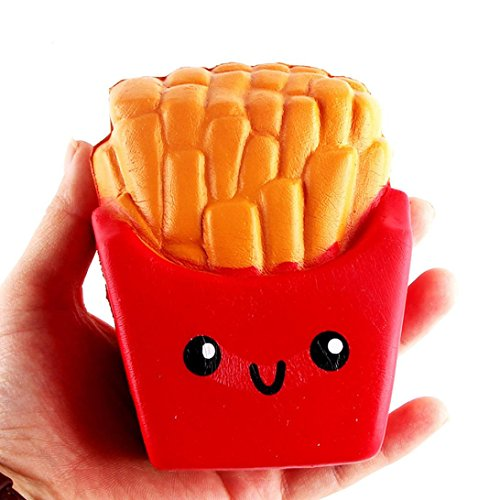 Kanzd Kids Fun Squeeze Toys French Fries Cream Scented Squeeze 6 Second Slow Rising ToyDecompression Toys (red) (French Fries Child Costume)