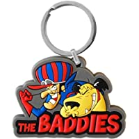 (1, Branded) - Dick Dastardly and Muttley Keyring. PVC Keyring