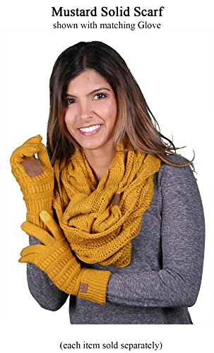S1-6100-72 Funky Junque Infinity Scarf - Mustard (Solid) by Funky Junque (Image #4)