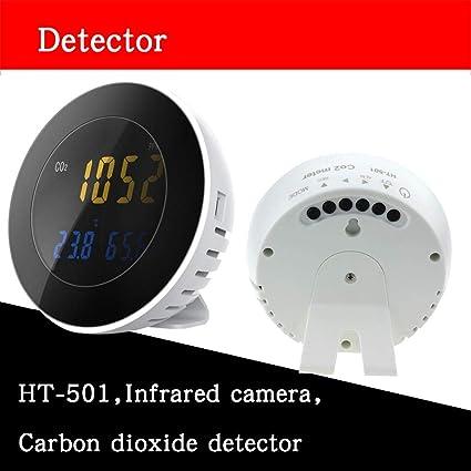 pinguesty Medidor de Humedad de la Temperatura del Detector de dióxido de Carbono HT-501
