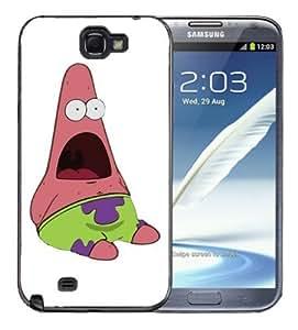 Samsung Galaxy Note 2 Black Rubber Silicone Case - Surprise Patrick Spongebob Patrick Sponge Bob