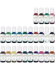 Transparante hars kleurstof verf pigment epoxy inkt kleurstof vloeistof 24 kleuren, epoxyhars verf groot voor hars petrischaal, onderzetters, schilderen, beker maken (10 ml per stuk) ..