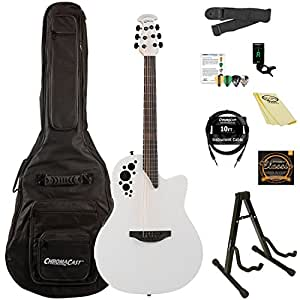 ovation elite tx aa solid spruce top acoustic electric guitar kit with chromacast. Black Bedroom Furniture Sets. Home Design Ideas