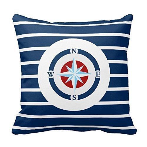 Decorbox Cotton Stripe Pattern Pillowcase Blue White Stripes