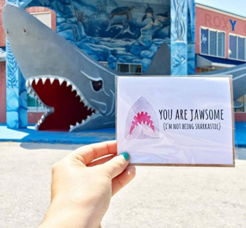 Jawsome// Mothers Day Card, Mothers Day, Card for Mom, Card for Mum, Funny Card for Mom, Card for Shark Lover, Gift for Shark Lover, Shark Lover, Shark Week (Mother Mum)