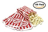 popcorn bag holder - 1-oz Popcorn Bags (Pack of 150) - Classic Disposable Toxic-Free Paper Bags for Movie Night, Cinema or Other Event - Fresh Popcorn Served Warm | Food-Grade & Oil-Proof