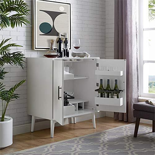 Crosley Furniture CF4403-WH Landon Mid-Century Modern Bar Cabinet, White by Crosley Furniture (Image #8)