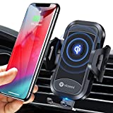 VICSEED Wireless Car Charger Mount Fast Charging Qi Wireless Car Charger 7.5W 10W Qi Car Charger Air Vent Phone Holder for Car Mount Fit for iPhone 11 Pro Max XS Max X 8 Plus XR Samsung Note10 S10 S9