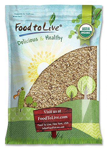 Organic Rolled Oats Food to Live (Old-Fashioned, 100% Whole Grain, Non-GMO, Kosher, Bulk, Product of the USA) - 5 Pounds