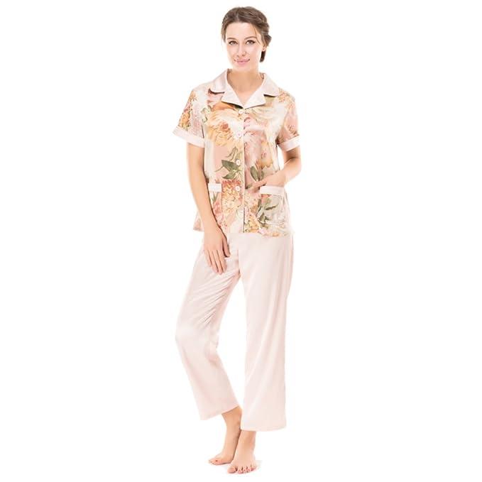 Verano pijamas/Mujer clásico manga corta impresas servicio a domicilio/ el manto/Pijamas