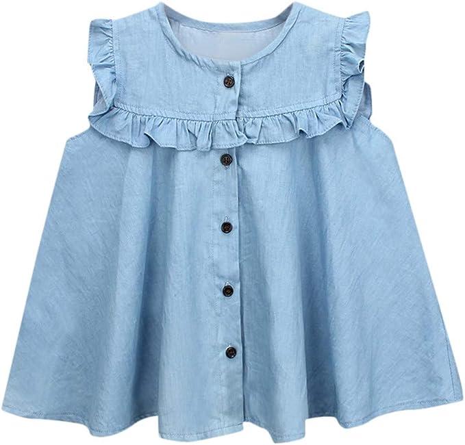 ASHOP Vestidos niña Verano 8 años Faldas Vestido Casual 2019 (Azul ...