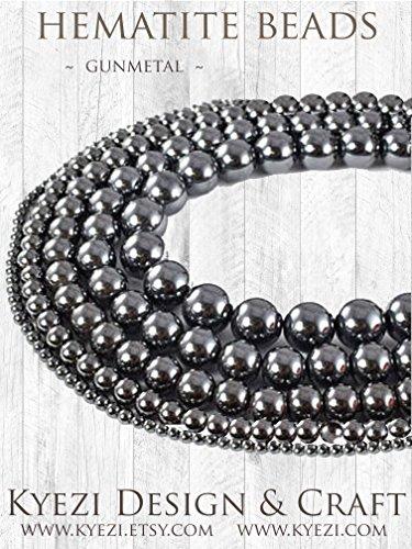 - Natural Gemstones, Round Beads, Healing Power, Crystal, Energy Stone, Full Strand for Jewelry Making [Kyezi Design and Craft] (8mm, Gunmetal Hematite)