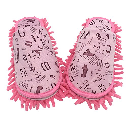 for Dirt Women amp; Super Available Alphabet Multi Cleaner Image sizes 9 Colors 8 Microfiber Hair Slippers Washable Floor Shoes Size 9