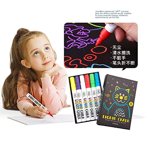 Vann92 Children's Dust-free Chalk Liquid Chalk Water-soluble 6-color Color Pen Office Teaching Office Stationery
