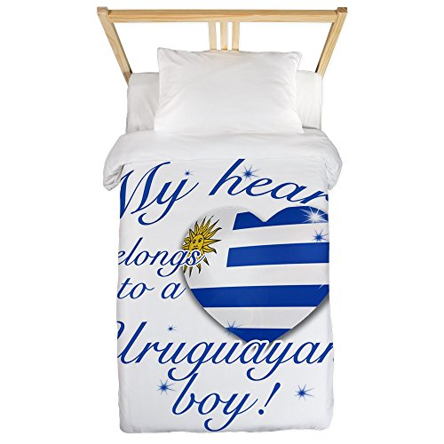 CafePress - My Heart Belongs To An Uruguayan Boy Twin Duvet - Twin Duvet Cover, Printed Comforter Cover, Unique Bedding, Microfiber