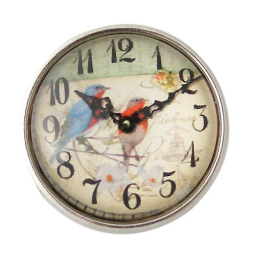 Chunk Snap Charm Antique Clock Face 20mm 3/4