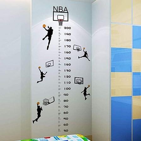 YUYU DIY Baloncesto Altura PVC Pegatinas de Pared Sala de niños ...