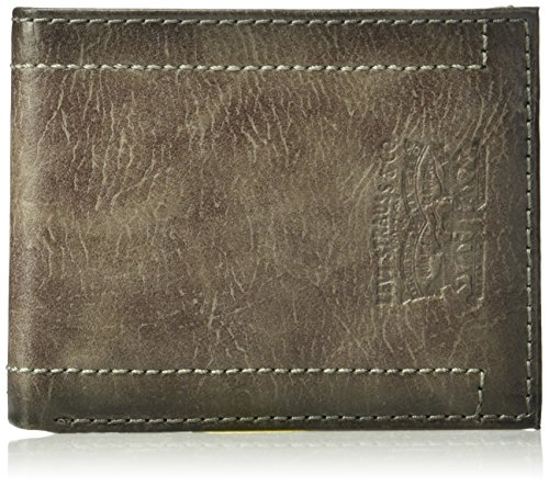 Levi's Men's Levi's Men's Raymond Passcase Wallet, grey, One Size (Mens Leather Valet)