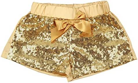 Iuhan Sequin BowKnot Toddler Baby Boy Girl Shorts Pants Bling Dancing Trousers