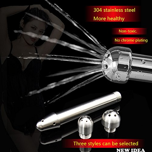 Stainless Steel Shower Enema Water Nozzle 3 Style Plug Head Enema Anal Cleaning Sex Toy AP022