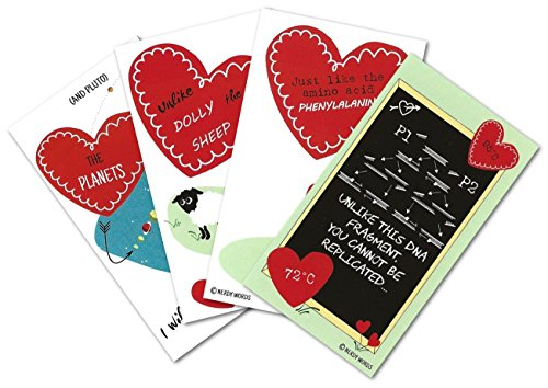 Mini Science Valentines (Set of 24) for Valentine's Day by Nerdy Words