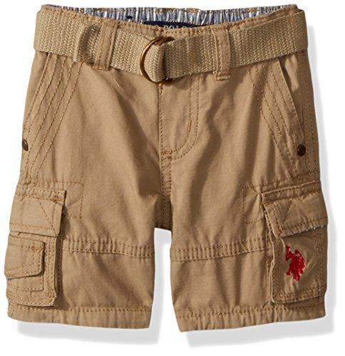 U.S. Polo Assn. Baby Boys Short, Mini Ripstop Cargo Dark Khaki, 12M