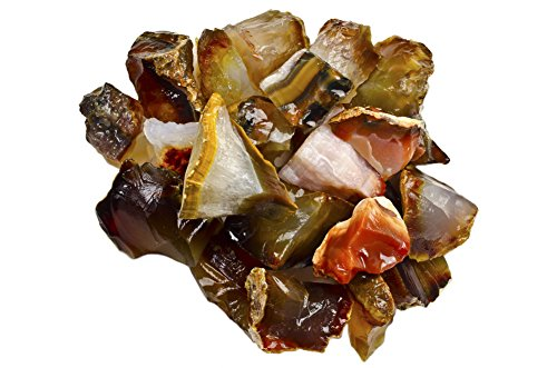 Hypnotic Gems Materials: 1 lb Bulk Rough Carnelian Stones from Madagascar - Raw Natural Crystals for Cabbing, Cutting, Lapidary, Tumbling, Polishing, Wire Wrapping, Wicca and Reiki Crystal Healing