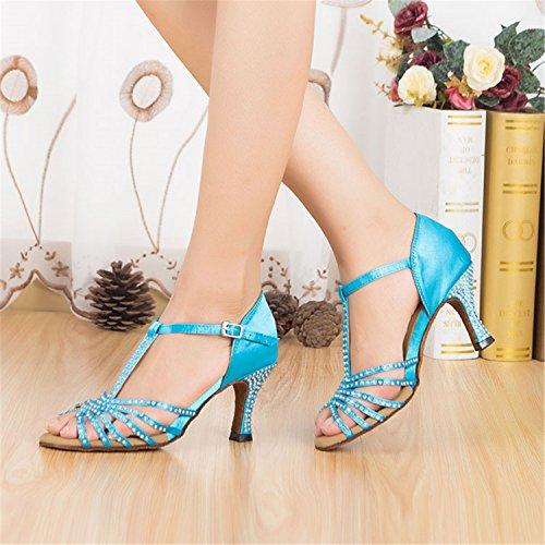 Scarpe Donne Tango Da nbsp;dono Il Ballare 7 5cm Latino Ballo 5cm Sala 8 Yff Blue U5aEc