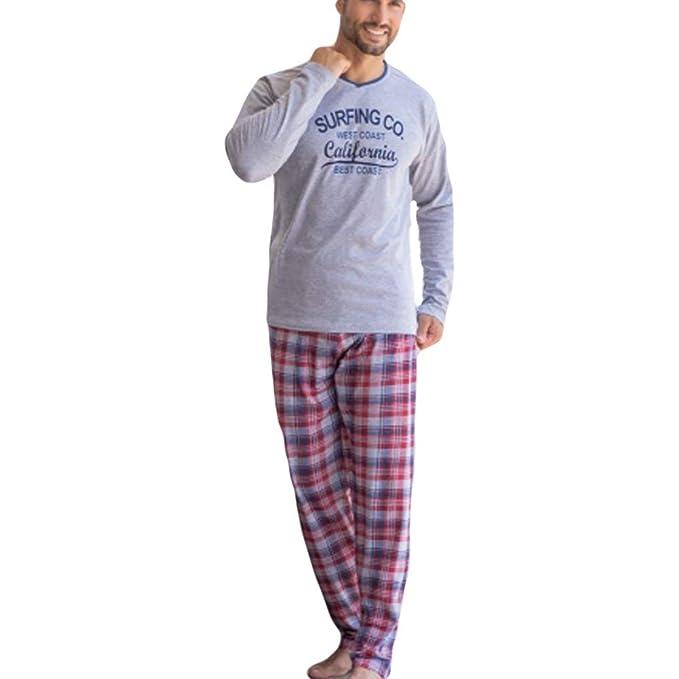 KLER - Pijama Chico Largo Hombre Color: Gris Talla: Medium