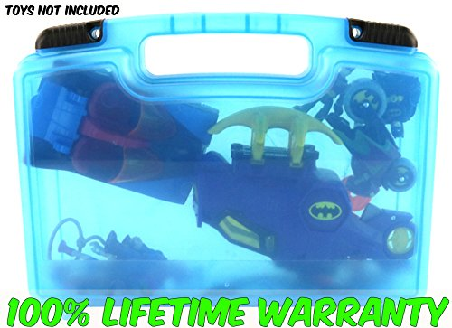 Life Made Better Toy Storage Organizer - Compatible With Imaginext Batmobile and Cycle- Blue