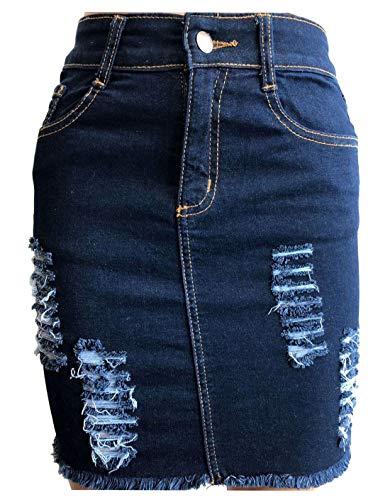 34 dchire Fashions Jean Navy Blue 46 Jupe dchire dchire Femme pour Islander en EU et PFAAS