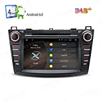 XTRONS 8 Android 6.0 HD Digital Multi-touch Screen 1080P Video Car DVD Player Custom Fit for Mazda 3 (2010-2013)